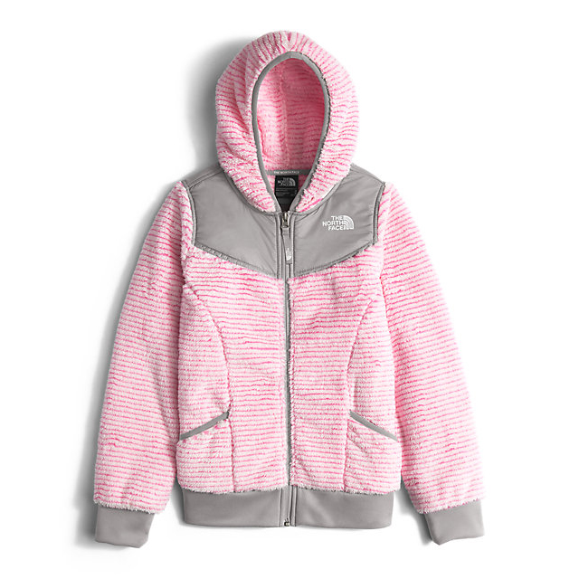 CHEAP NORTH FACE GIRLS' OSO HOODIEGIRLS' OSO HOODIE CHA CHA PINK STRIPE ONLINE