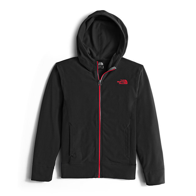 CHEAP NORTH FACE BOYS' GLACIER FULL ZIP HOODIE BLACK / RED ONLINE