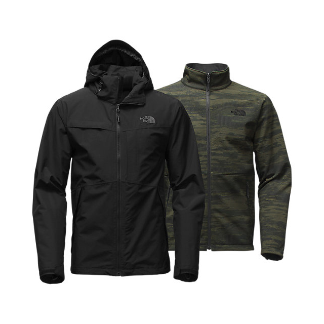 CHEAP NORTH FACE MEN'S CONDOR TRICLIMATE  JACKET BLACK/BLACK/ROSIN GREEN GLAMO PRINT ONLINE