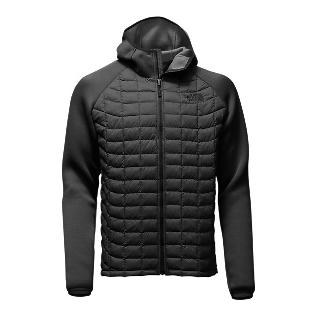 CHEAP NORTH FACE MEN'S UPHOLDER THERMOBALL HYBRID JACKET BLACK STRIA/BLACK HEATHER ONLINE