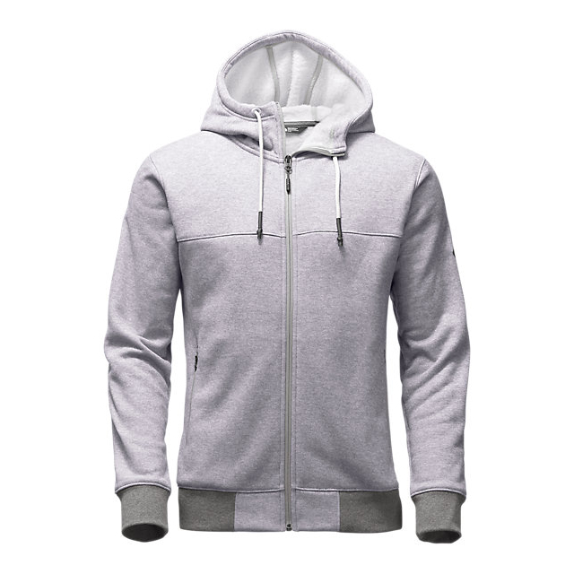 CHEAP NORTH FACE MEN'S TECH SHERPA FULL ZIP HOODIE LIGHT GREY HEATHER ONLINE