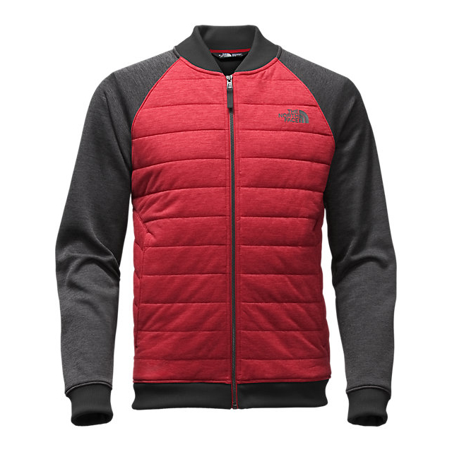 CHEAP NORTH FACE MEN\'S NORRIS POINT INSULATED FULL ZIP CARDINAL RED HEATHER/DARK GREY HEATHER ONLINE