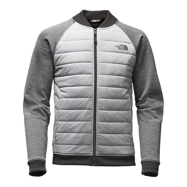 CHEAP NORTH FACE MEN'S NORRIS POINT INSULATED FULL ZIP LIGHT GREY HEATHER/MEDIUM GREY HEATHER ONLINE