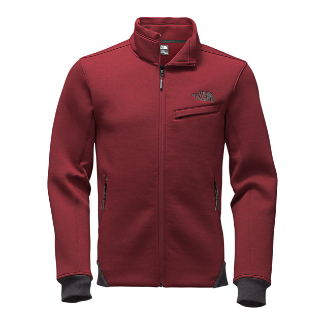 CHEAP NORTH FACE MEN'S THERMAL 3D JACKET BIKING RED BLACK HEATHER ONLINE