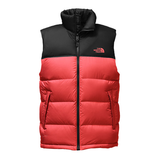 CHEAP NORTH FACE MEN'S NUPTSE VEST CARDINAL RED/BLACK ONLINE