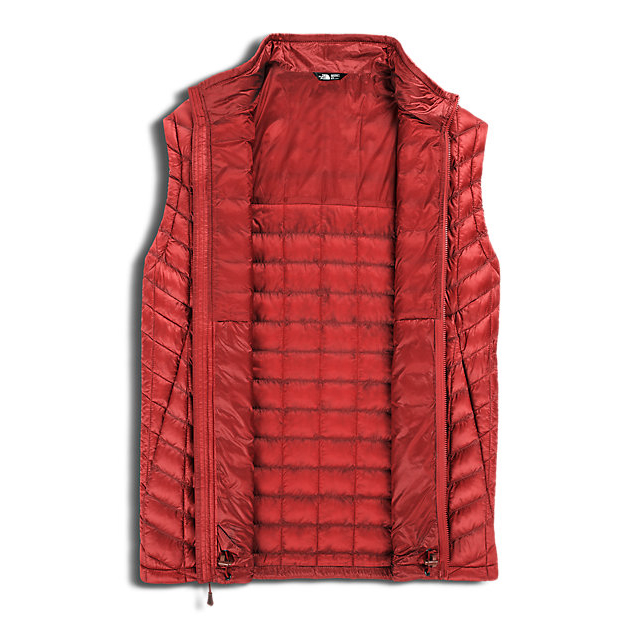 CHEAP NORTH FACE MEN\'S THERMOBALL VEST CARDINAL RED ONLINE