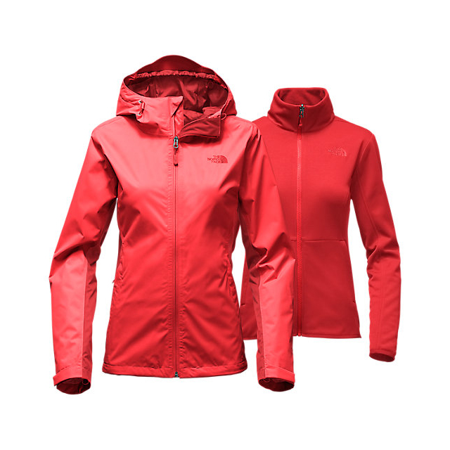 CHEAP NORTH FACE WOMEN'S ARROWOOD TRICLIMATE  JACKET HIGH RISK RED ONLINE