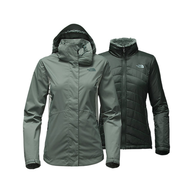 CHEAP NORTH FACE WOMEN'S MOSSBUD SWIRL TRICLIMATE  JACKET BALSAM GREEN/WROUGHT IRON ONLINE