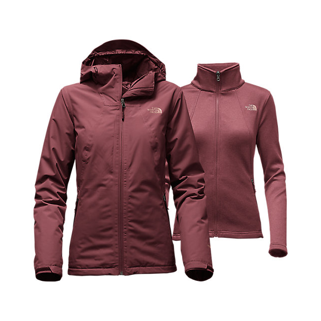 CHEAP NORTH FACE WOMEN'S HIGHANDDRY TRICLIMATE  JACKET DEEP GARNET RED ONLINE