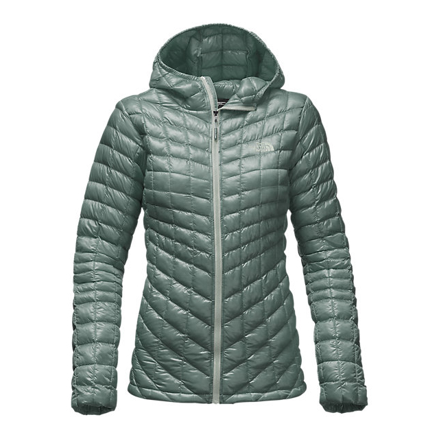 CHEAP NORTH FACE WOMEN'S THERMOBALL HOODED JACKET BALSAM GREEN ONLINE