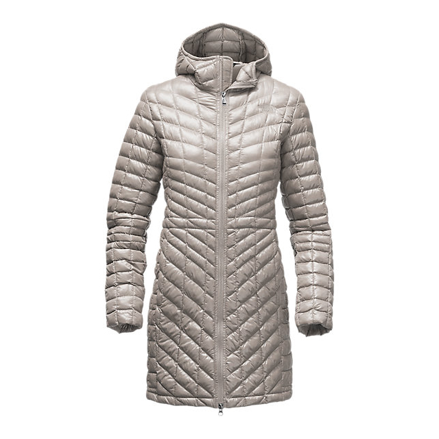 CHEAP NORTH FACE WOMEN'S THERMOBALL  HOODED PARKA DOVE GREY ONLINE
