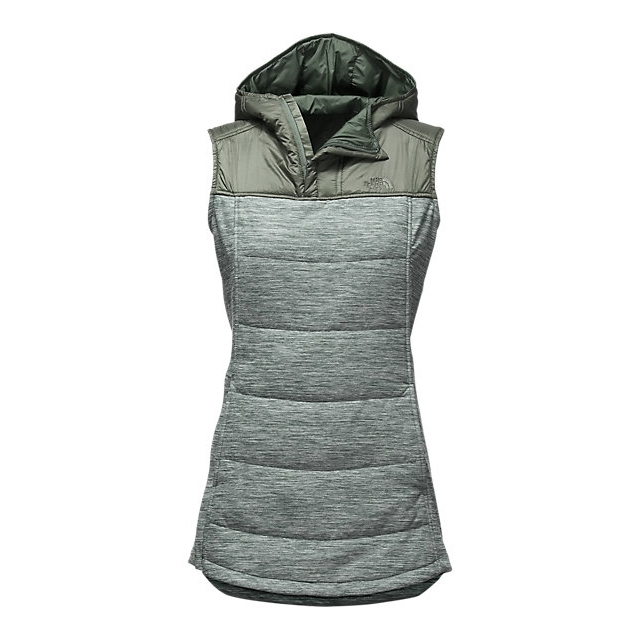 CHEAP NORTH FACE WOMEN'S PSEUDIO TUNIC VEST BALSAM GREEN HEATHER/BALSAM GREEN ONLINE